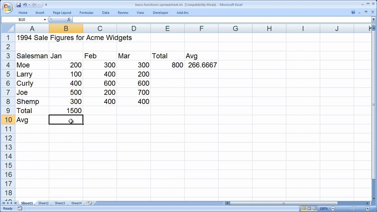 excel basic formulas and functions youtube