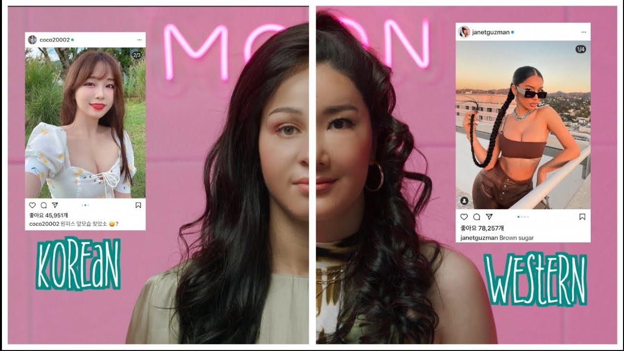 Korean vs Western Instagram Model Style / Euniunni Gets a Baddie Makeover