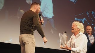 Richard Branson Gives Conor McGregor 'Life Time Achievement Award' (FULL VIDEO)