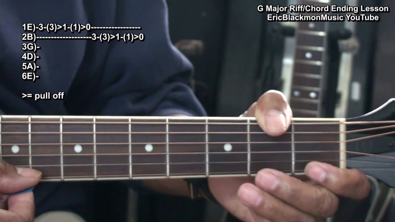 How To Play A Fancy Acoustic Guitar Riff Chord Ending In G Major For