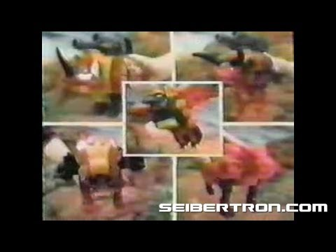 Transformers G1 Predacons Predaking vs Dinobots commercial 1986