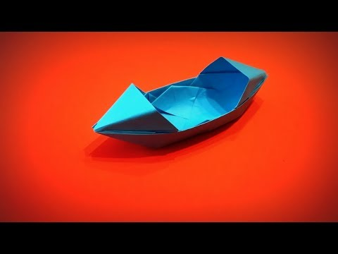 How to Make a Paper Canoe that Swims DIY - Easy Origami Step by Step
