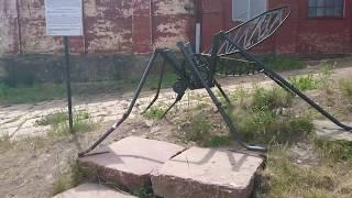 Памятник комару в Петрозаводске.