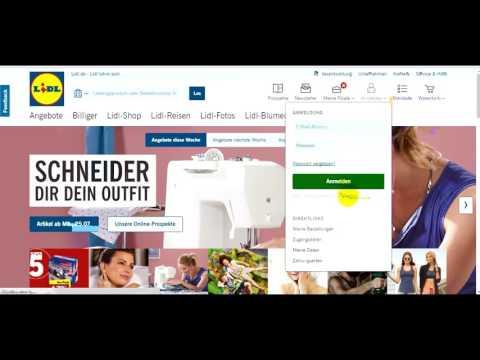 Регистрация и покупка в интернет-магазине Lidl