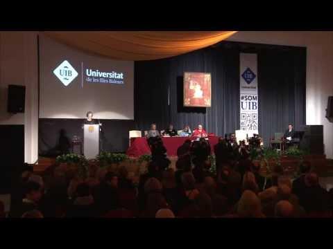 Acte d'investidura de la senyora Maria del Mar Bonet com a doctora honoris causa de la UIB