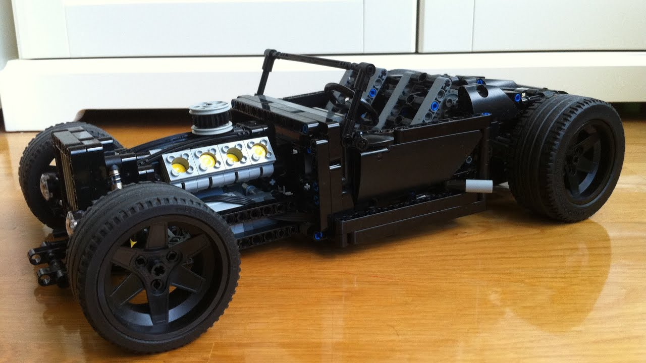motorized lego hot rod with retractable roof moc youtube. Black Bedroom Furniture Sets. Home Design Ideas