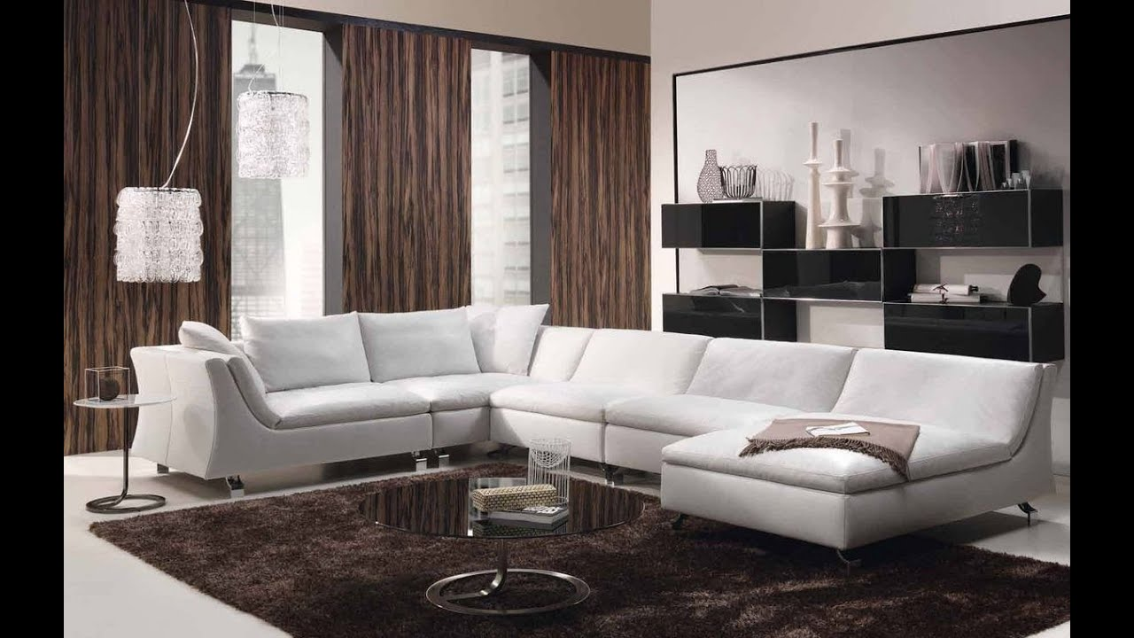 Modern sofa designs for drawing room 2016 - Luxury And Modern Living Room Design With Modern Sofa Luxury Interior Youtube