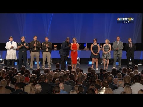 Las Vegas first responders join Golden Knights at NHL Awards