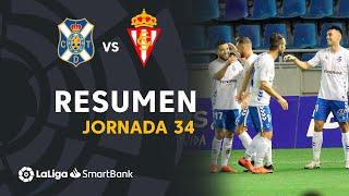 Resumen de CD Tenerife vs Real Sporting (1-0)