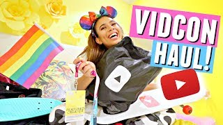 I CAN FINALLY SHOW YOU... Everything I got at Vidcon HAUL!!🛍️