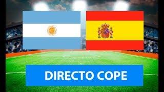 (SOLO AUDIO) Directo del Argentina 75-95 España (Final Mundial) en Tiempo de Juego COPE
