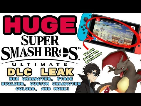 HUGE Smash Ultimate DLC Leak! NEW CHARACTER, STAGE BUILDER, CUSTOM CHARACTER COLORS AND MORE! thumbnail