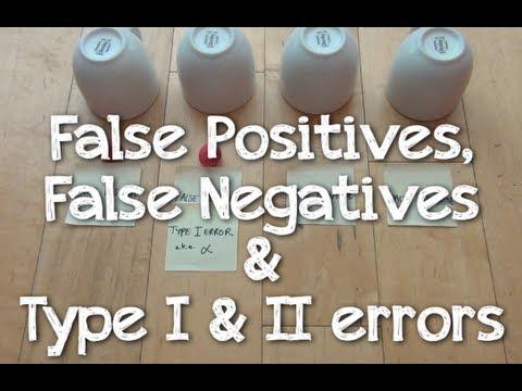 False Positives, False Negatives & Type I & II Errors