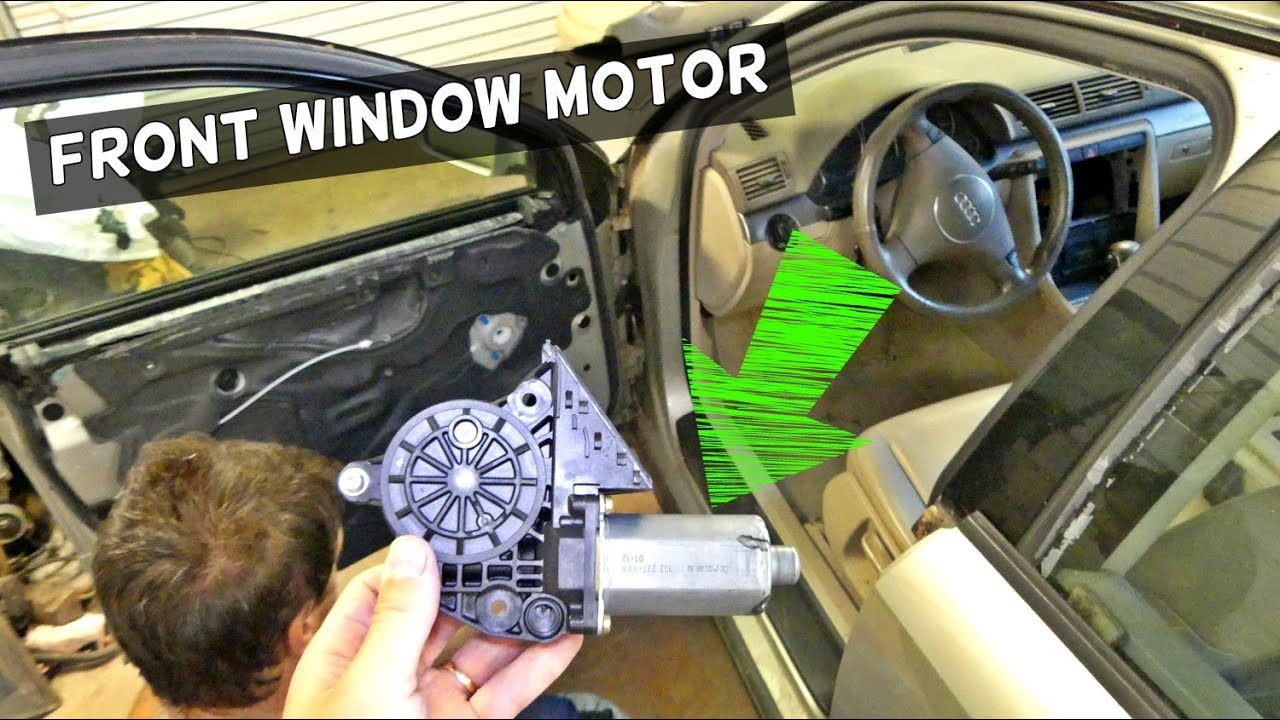 audi a4 b6 front window regulator motor replacement removal youtube rh youtube com 2003 Audi A4 1.8T Exhaust 2003 Audi A4 Turbo