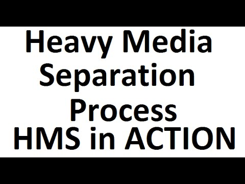 Heavy Media Separation Process: Rocks are Floating