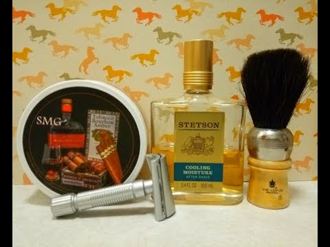 Fine Superlite Slant, SMG Tobacco, Bourbon, Amber with Stetson aftershave