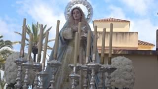 Procesión Gamarra 2017. Petalada a la Virgen.