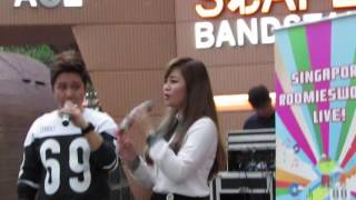 Benjamin Lim & Mint Leong @ Roomies World @ Scape Bandstand - 小酒窝