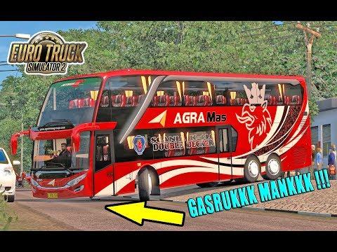 NEK4T !!! BUS SDD AGRA MAS SCANIA MASUK DAN PARKIR DI GANG SEMPIT - ETS2 MOD INDONESIA - 동영상