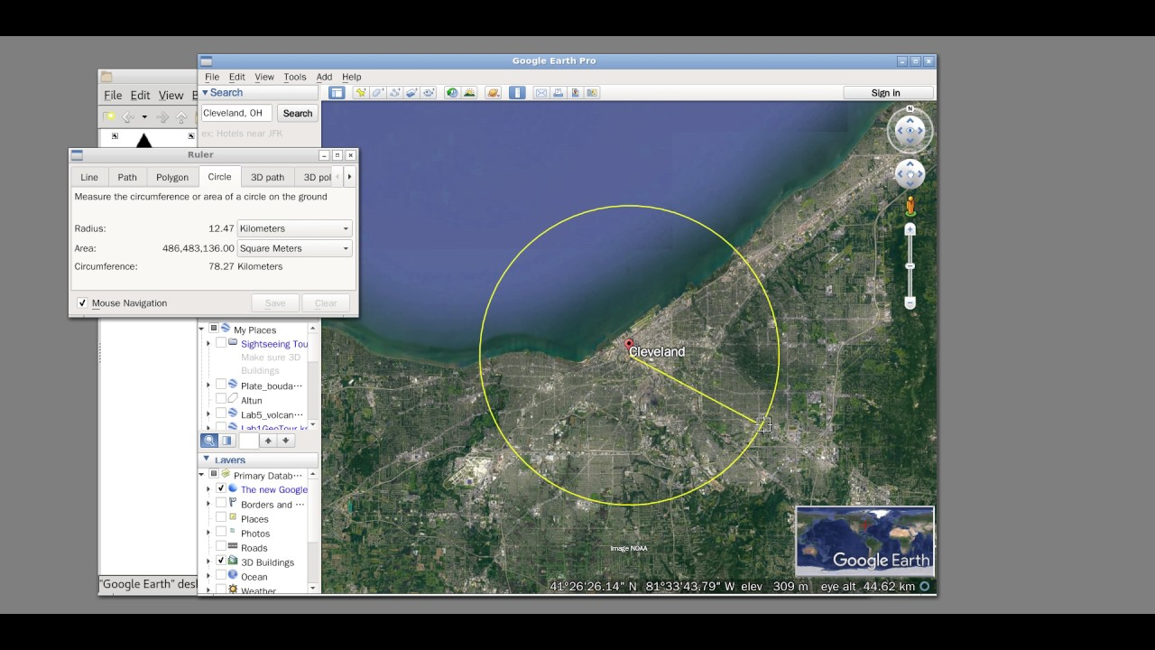 Lab 10 Q&A: How to Draw A Circle using Google Earth Pro