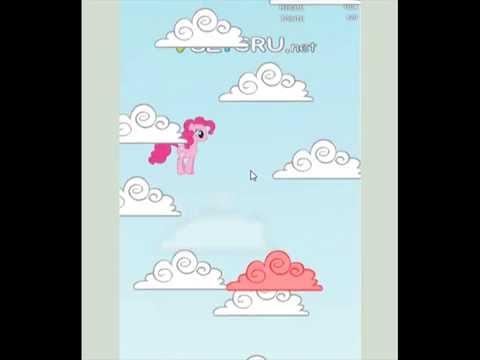 Играем а игру ,,Пинки пай прыгает по облокам