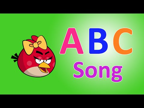 ABC Song for Kids ♫  Angry Birds Kids Songs ♫ Nursery Rhymes Songs ♫ ABC Songs for Children