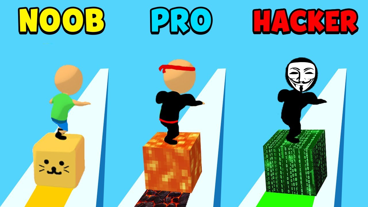 NOOB vs PRO vs HACKER – Cube Surfer