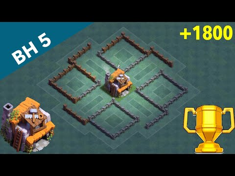 New Builder Hall 5 Base |•| Clash Of Clans