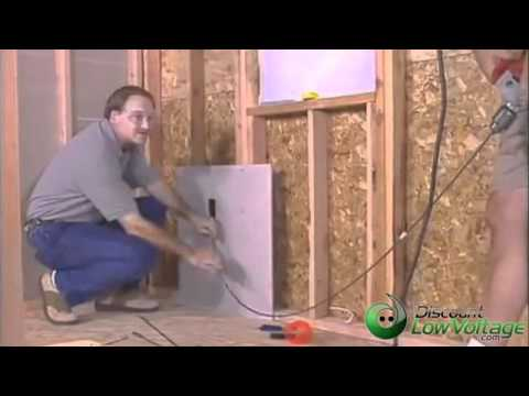 How to run cable through the wall demonstration easy for How to fish wire through insulated wall