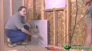 How to Run Cable Through Wall Demonstration Home Cabling Installation