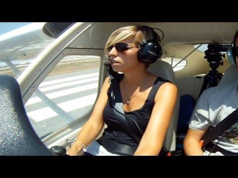 Tecnam P92|Cockpit Landing at Larnaca|Short VFR Flight|Female pilot in action!