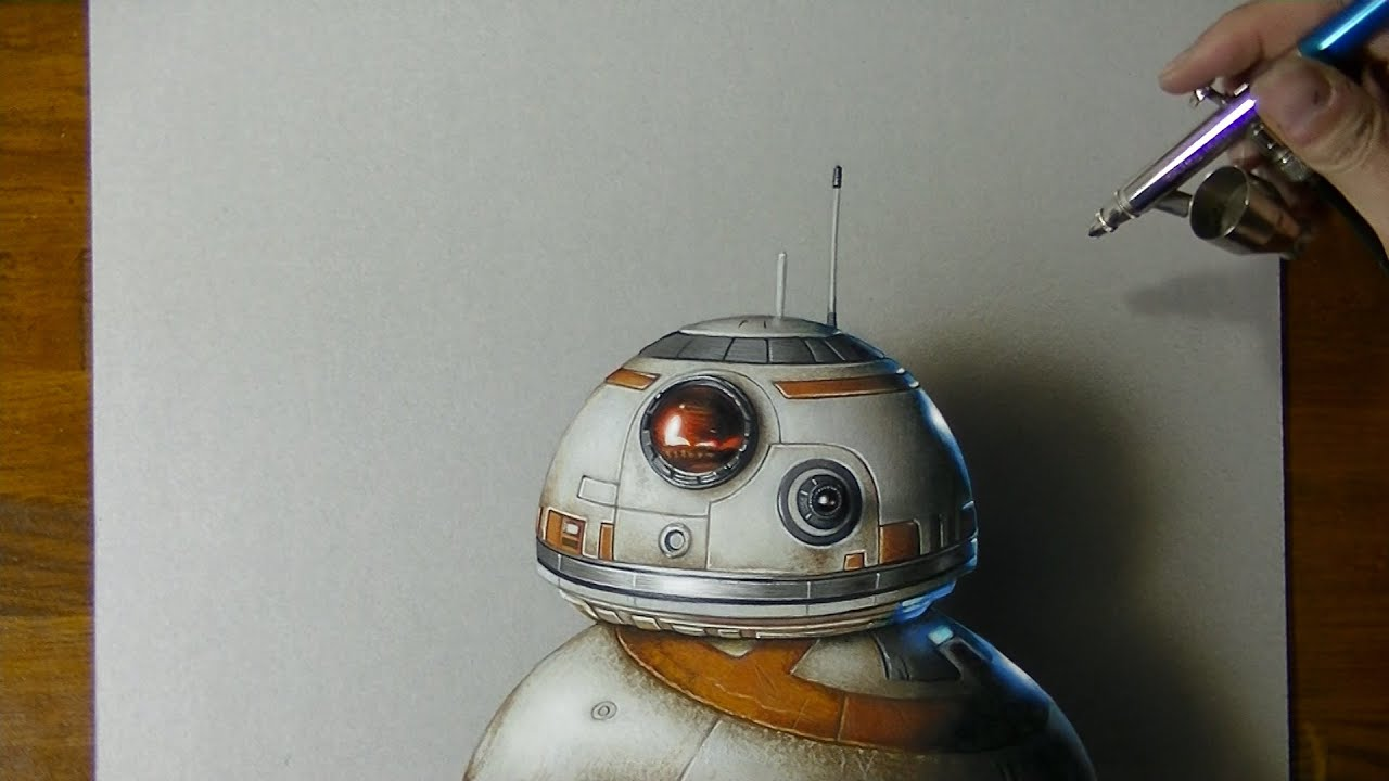 BB-8 | Star Wars VII | Drawing #4 + Sphero BB8 rolling - YouTube