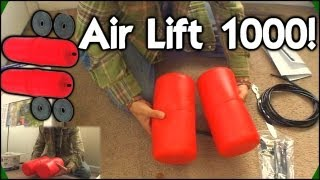 Air Lift 1000 UnBoxing | Increasing Weight Capacity w/ 1000lbs Helper Bags - Rear Suspension Upgrade