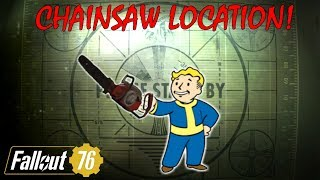 Fallout 76 Rare Weapons: CHAINSAW LOCATION (How to get Chainsaw)