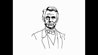 "How to draw ""Abraham Lincoln Face"" pencil drawing step by step"