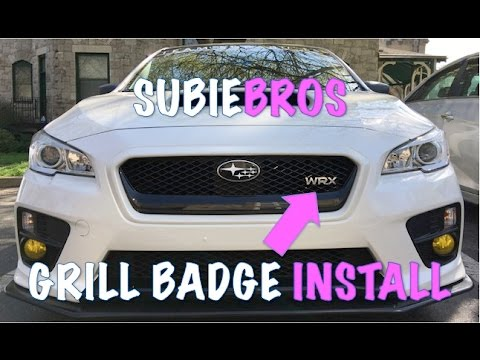 SubieBros WRX Grill Badge | Review and Install | 2015 ...