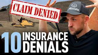 Top 10 Roofing Insurance claims denials by Adjusters | Roofing Insights