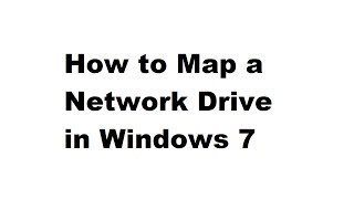 Joe's Tips: How to Map a Network Drive in Windows 7