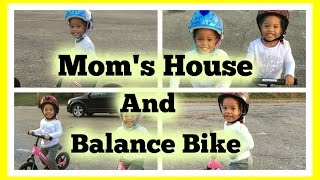 Dance Party | Mom's House | Surprise | Balance Bike | MomentswithMommy