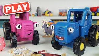 КукуPlay - Синий Трактор и Мила собирают игрушки - Поиграйка с Игрушками