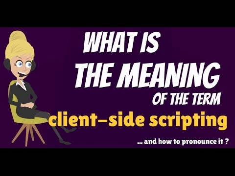What is CLIENT-SIDE SCRIPTING? What does CLIENT-SIDE SCRIPTING mean?