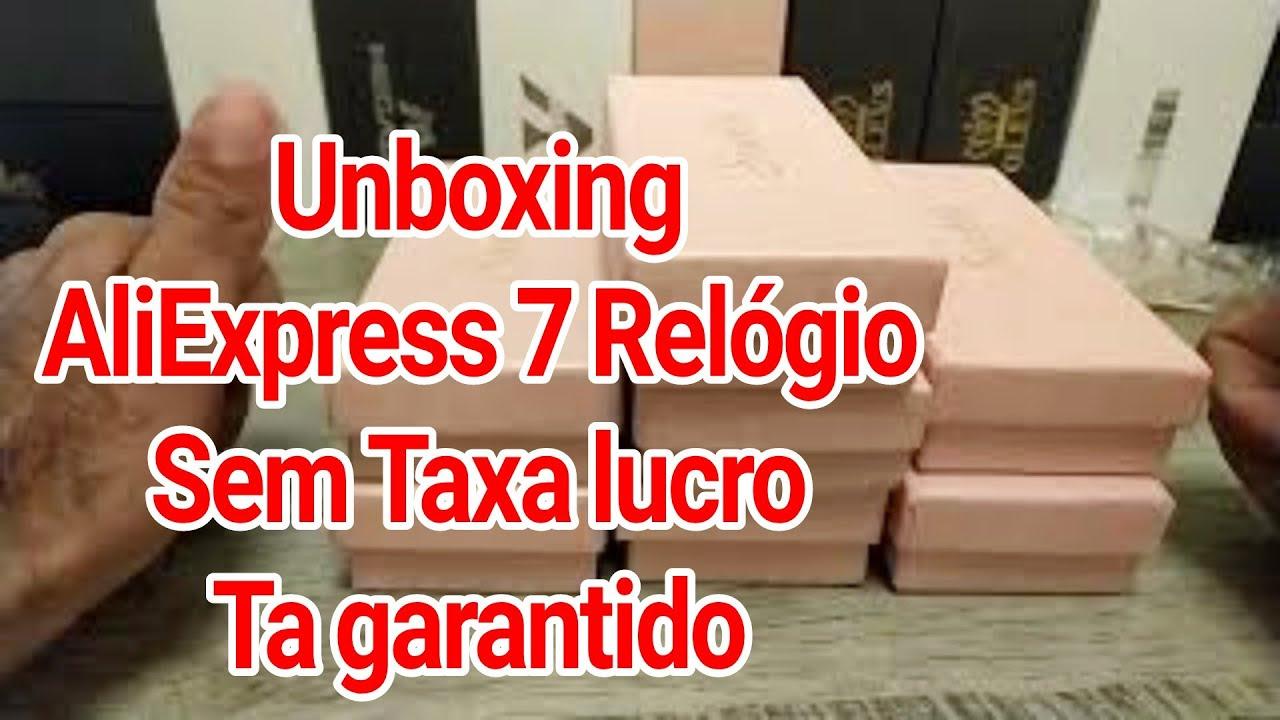 Unboxing AliExpress 7Relógio Sem Taxa Lucro garantido Reposição de estoque mais Novo lançamento 2021
