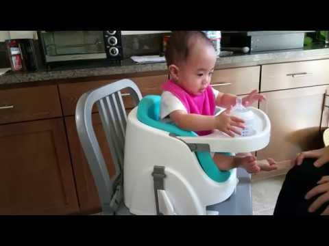Ingenuity Baby Base 2-in-1 Booster Seat with 8 Month Old
