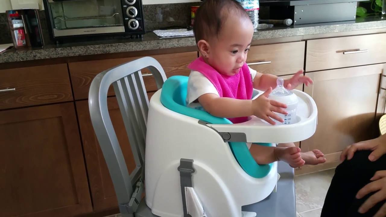 ingenuity high chair canada reviews white dining room chairs target baby base 2 in 1 booster seat with 8 month old youtube