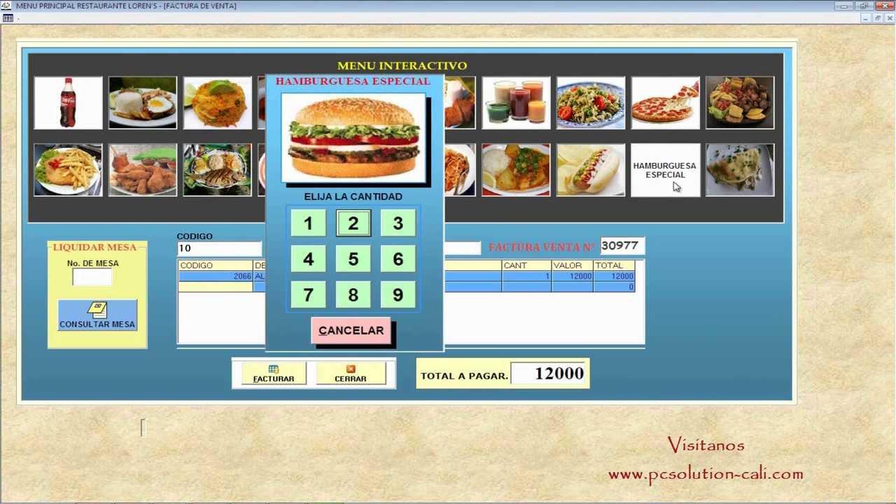 Software Restaurante Comidas Rapidas Youtube