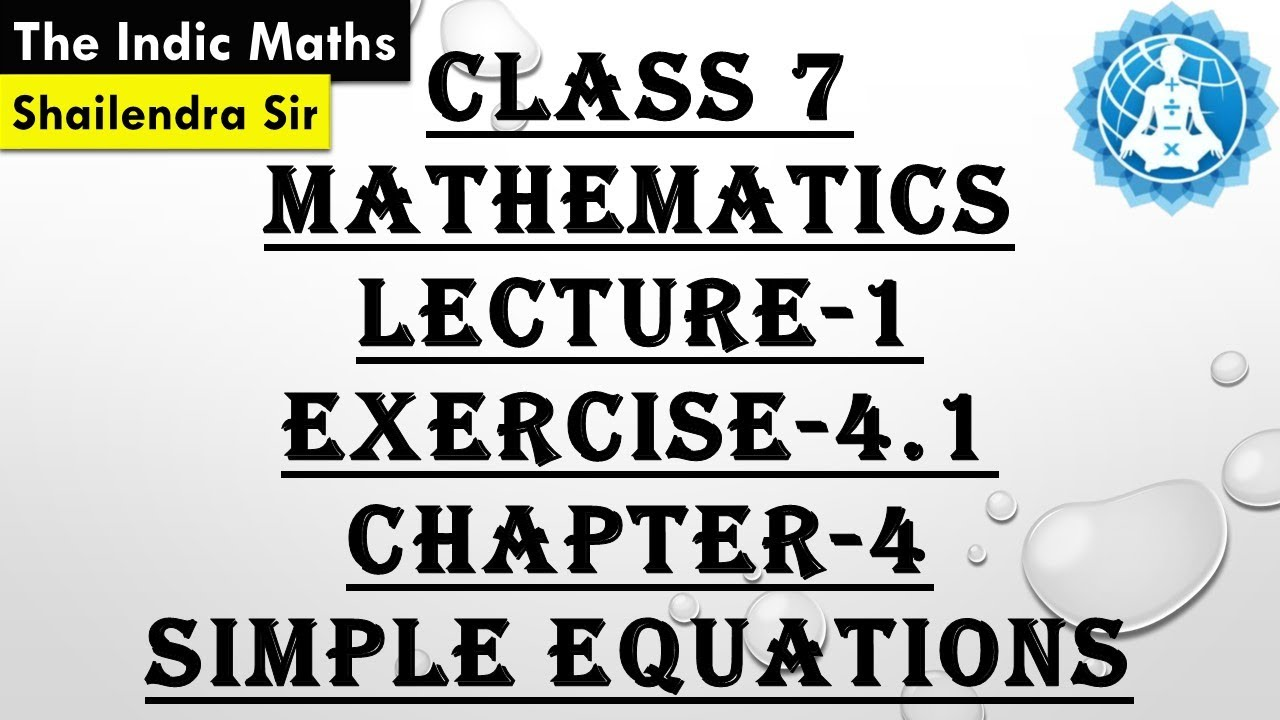 cbse class 7 mathematics chapter 4 simple equations lecture 1 ex 4 1 rh youtube com