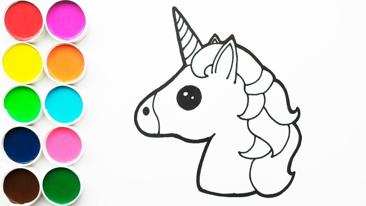 Como Dibujar Y Colorear Unicorcio De Arco Iris Dibujos Para