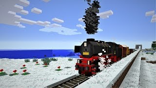 5,000m unfinished Minecraft railroad line