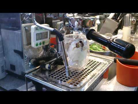 Home made affogato al caffe
