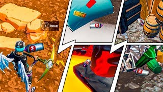 FIND THE LOST SPRAY BOTTLES DISPARATE AND PAINT ? FORTNITE SEASON X